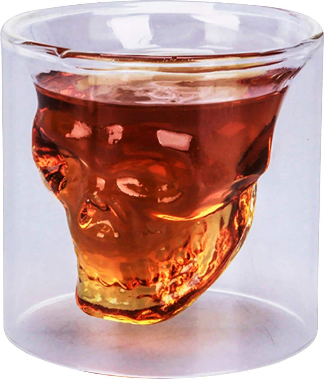 Samsonico USA - 2-Oz. Skull Shot Glass - Clear glass x 2 for $12 plus $10 back in discount code later @ Best Buy