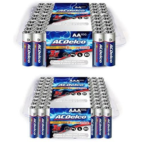 ACDelco Super Alkaline Batteries, 100-Count of AA and AAA (200 in total) for $34 with free shipping @ Google Express