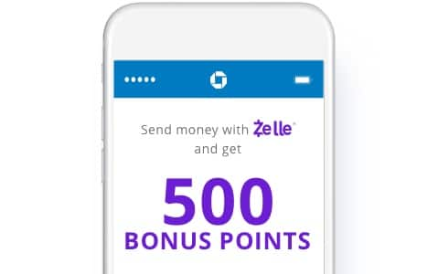 YMMV 500 Chase Ultimate Reward Points when sending 3 payments with Chase QuickPay with Zelle