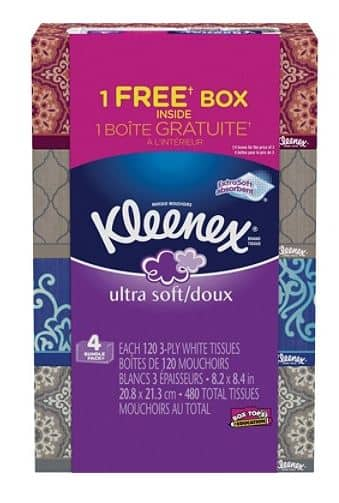 B&M 4PK Kleenex® Ultra-Soft 3-Ply Facial Tissues on clearance for only $2!!! YMMV