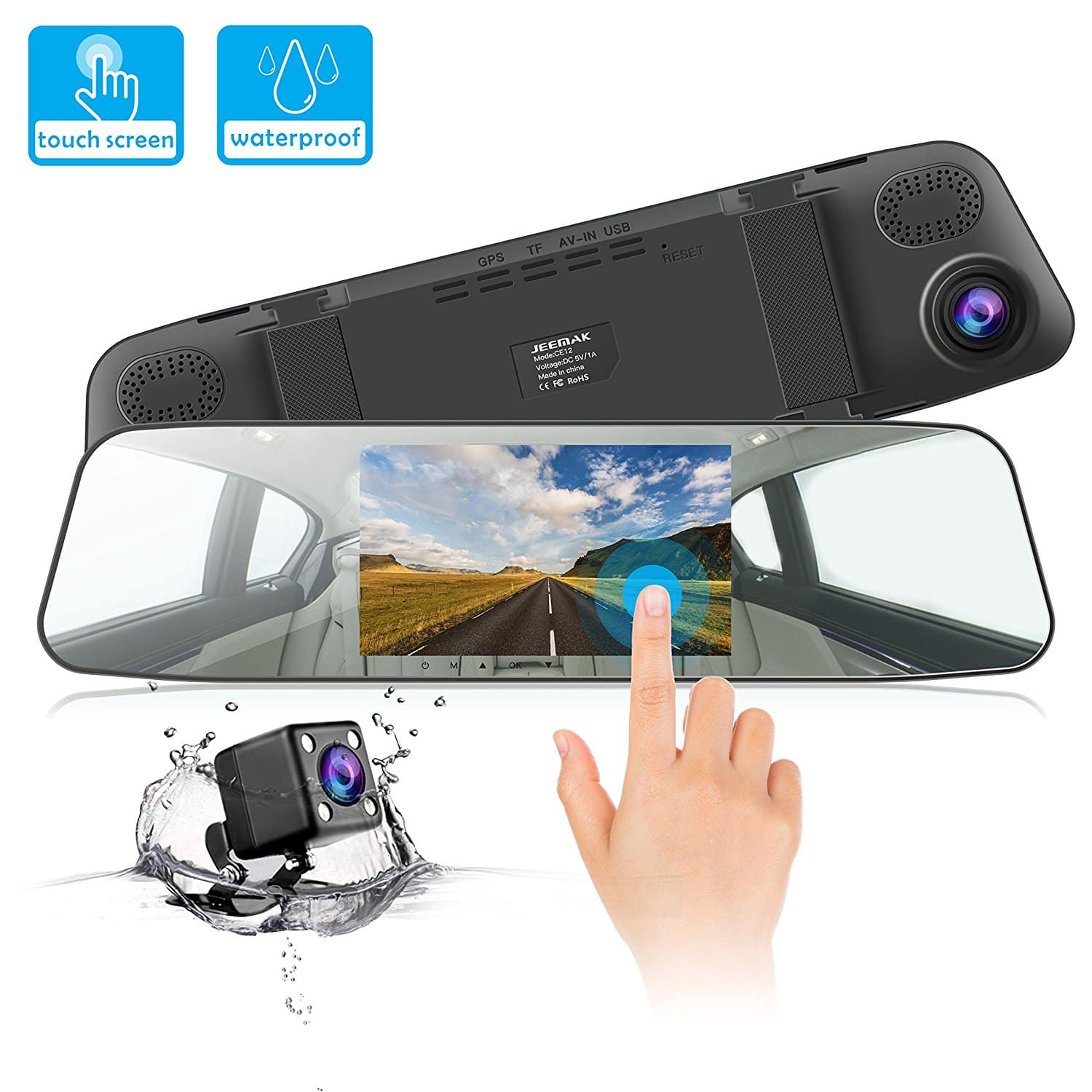 170° Wide Angle, 1080P, IPS Touch Screen, Rearview Dash Camera w continuous recording for $39.99 AC @ Amazon