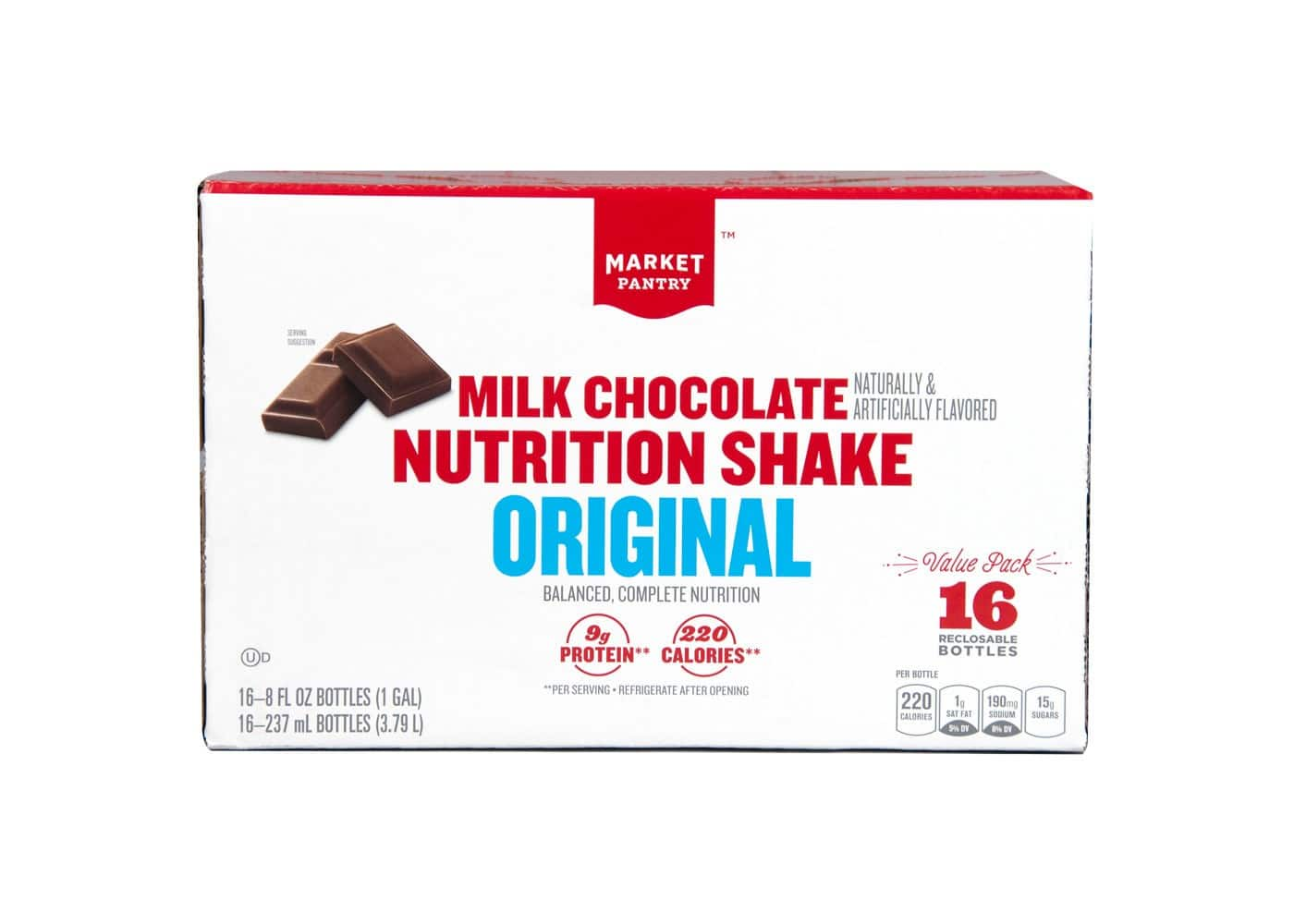 Market Pantry Original Milk Chocolate Shake (16ct) for $5.64 (clearance + subscription discount) @ Target