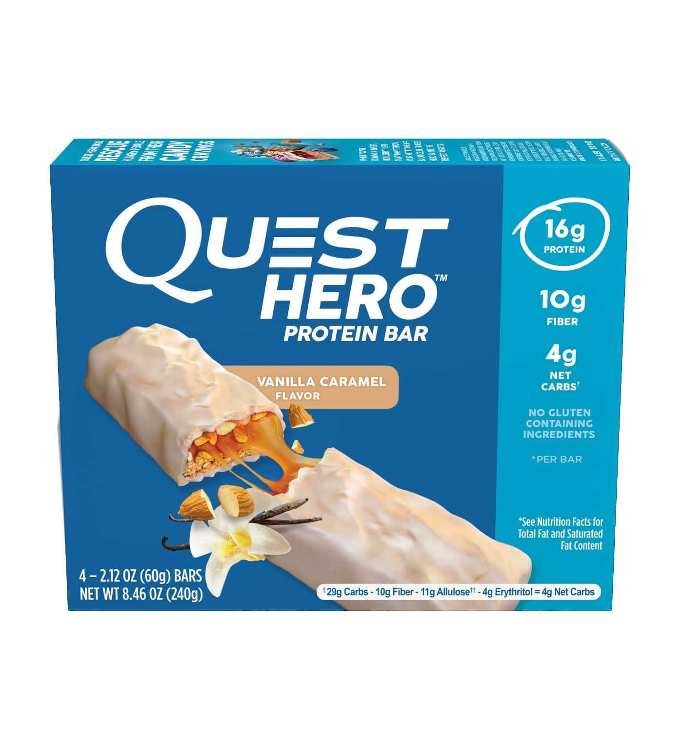 Quest Hero Protein Bar (4ct/Vanilla Caramel) for $3.42 (clearance + subscription discount) @ Target