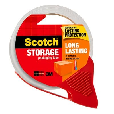 "Scotch Moving and Storage Packaging Tape with Dispenser, 1.88"" x 54.6yds, for $4.41 @ Target"