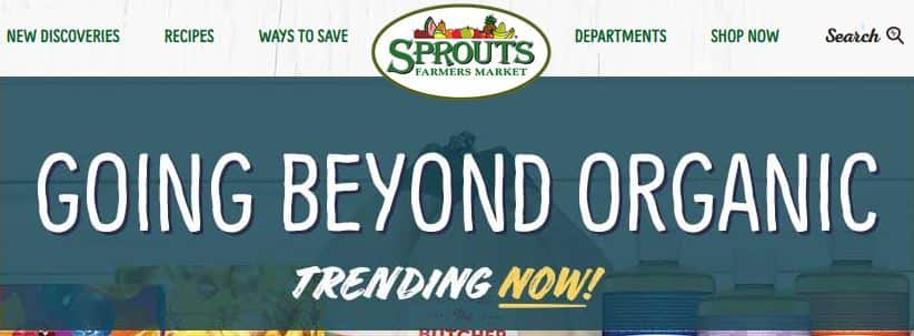 Today Only $5 off $40 or $10 off $60 @ Sprouts