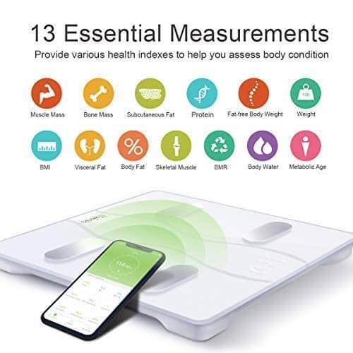 Bluetooth Digital Scale with 13 body composition analyzers (up to 400lbs) for $23.99 AC @ Amazon (Ships free)