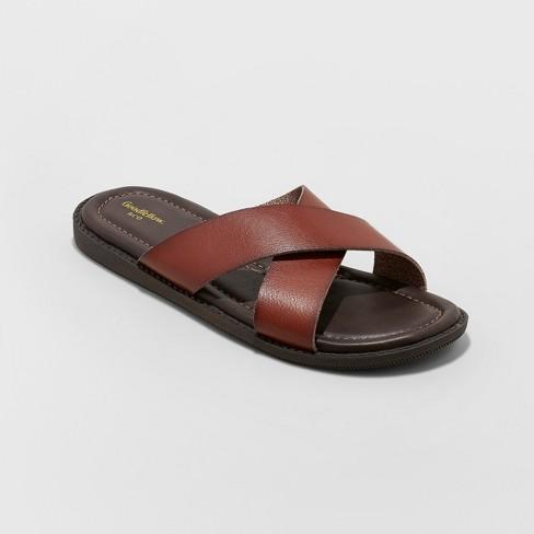 B&M YMMV Men's Kurtis Slide Sandal - Goodfellow & Co™ Brown (Tan) for $9.98 @ Target