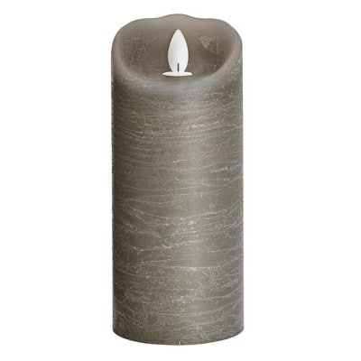 YMMV B&M 3 x 7 Unscented LED Moving Flame Pillar Candle Gray for $4.48