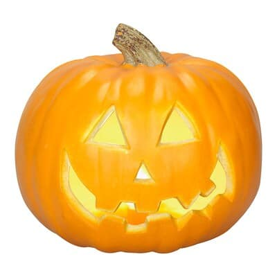 YMMV Holiday Living Pre-Lit Resin Freestanding Jack-O-Lantern Sculpture for $2.50 @ Lowes