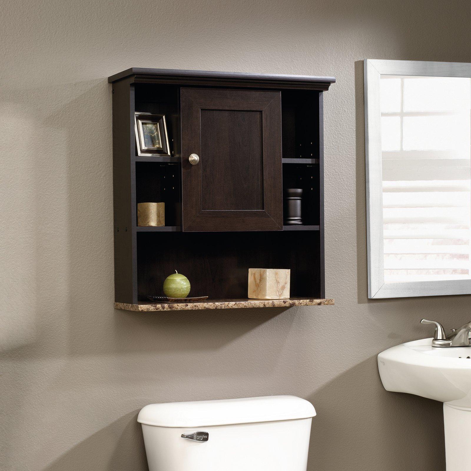 Sauder Peppercorn Wall Cabinet, Cinnamon Cherry for $32.23 @ Amazon
