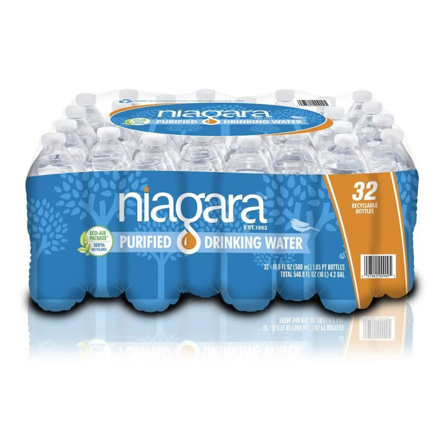 Niagara 32-Pack 16.9-fl oz Purified Bottled Water for $3.50 @ Lowe's