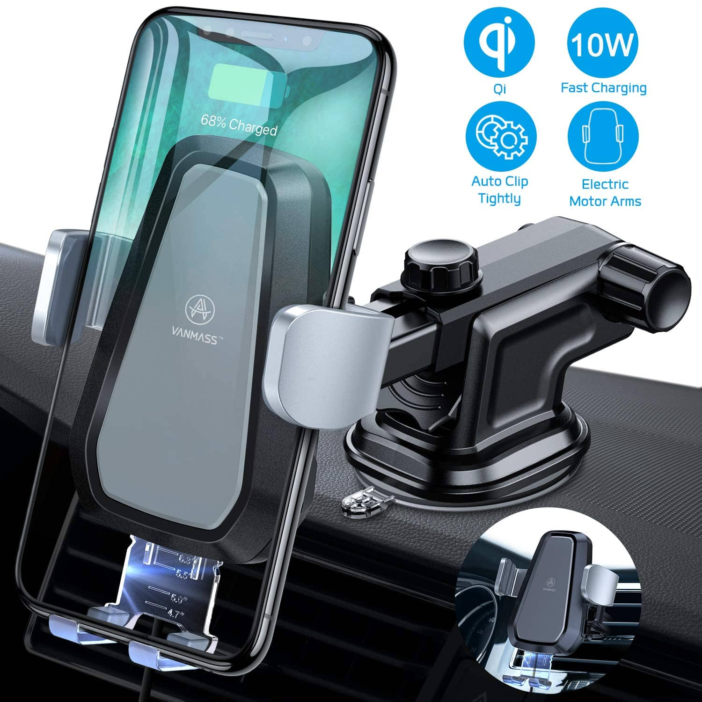 Car Phone Mount w Qi Wireless Charging for $36.99 AC @ Amazon