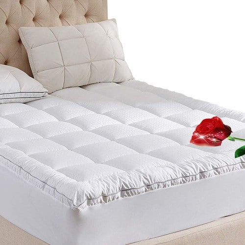 Quilted 8-21 Inch Deep Pocket Cotton Pillow Top Mattress Pad w Down Alternative Filling For $26-36 (varis by size) AC @ Amazon $26.55