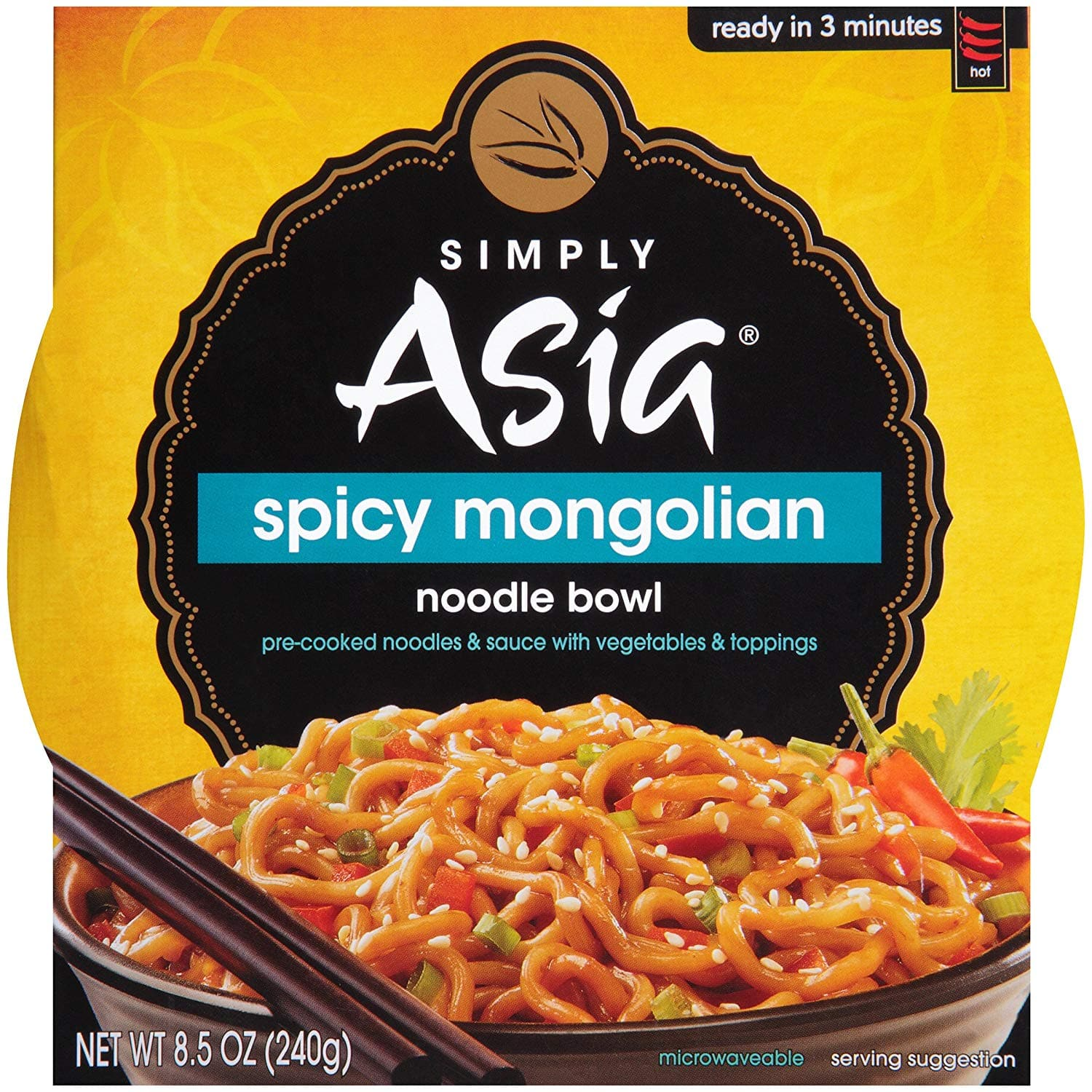 Simply Asia Spicy Mongolian Noodle Bowl, 8.5 oz (Pack of 6) for $9.28 AC and SS @ Amazon