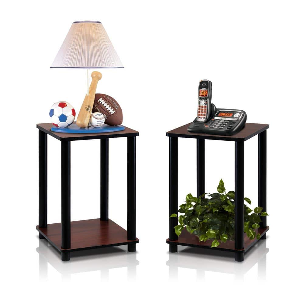 Turn N Tube Dark Cherry Simple End Table (2-Set) for $23.52 @ Home Depot