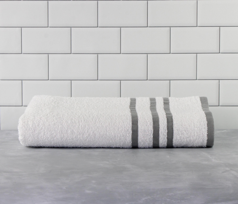 YMMV B&M Mainstays Basic Bath Collection - Single Bath Towel, White Stripe for $0.50 @ Walmart
