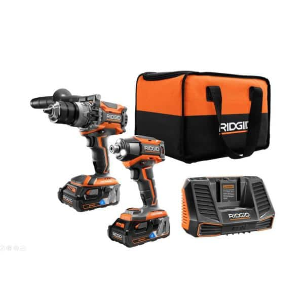 18-Volt OCTANE Lithium-Ion Cordless Brushless Combo Kit with Hammer Drill, Impact Driver, (2) 3.0 Ah Batteries, Charger $278.95