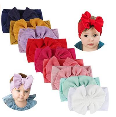 9 PCS Handmade Baby Headbands with Bows $9.74
