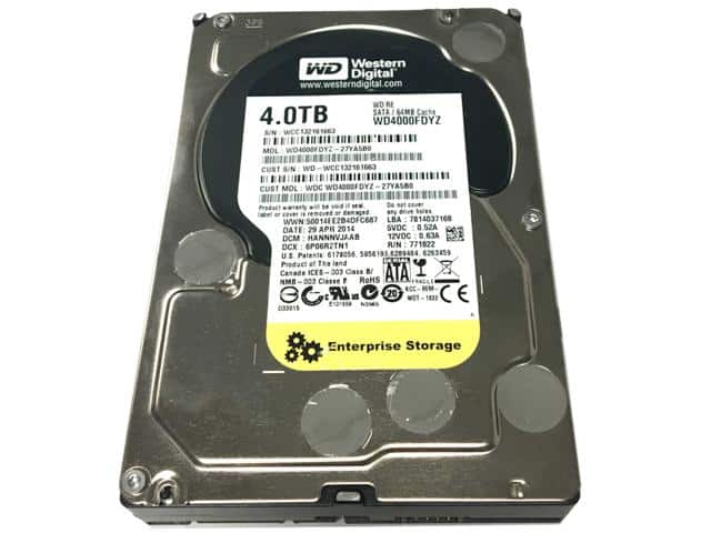 "Newegg Flash: Refurbished 4TB WD Internal Enterprise Hard Drive for $90+Free Shipping - 3.5"" SATA III 7200 WD4000FDYZ"