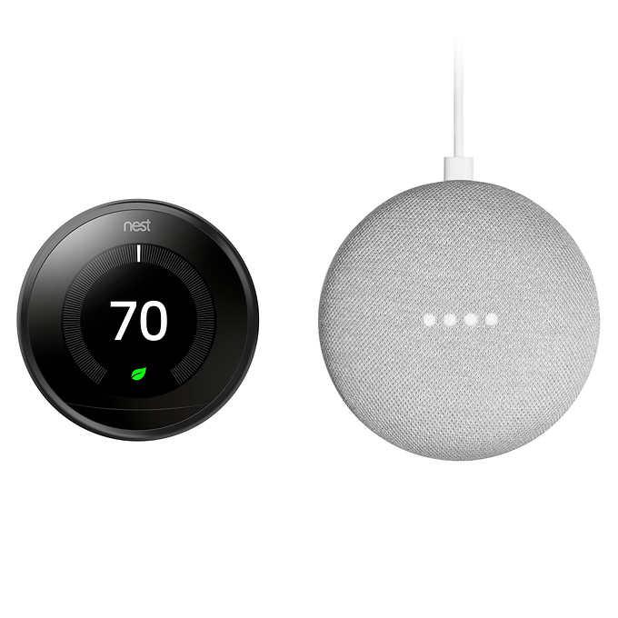 Costco Members Nest 3rd gen  + Google Home Mini Bundle + Free Shipping $169.99