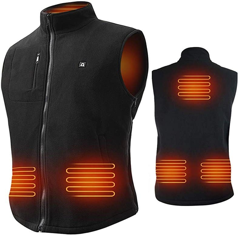 Size Adjustable Heated Vest with 7.4V Rechargeable Battery for Winter  $68.38
