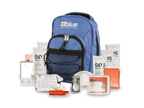15-Piece Blue Coolers Blue Seventy-Two One Person 72 Hour Emergency Backpack $30 + 2.5% SD Cashback (PC Req'd) + Free Shipping w/ Prime