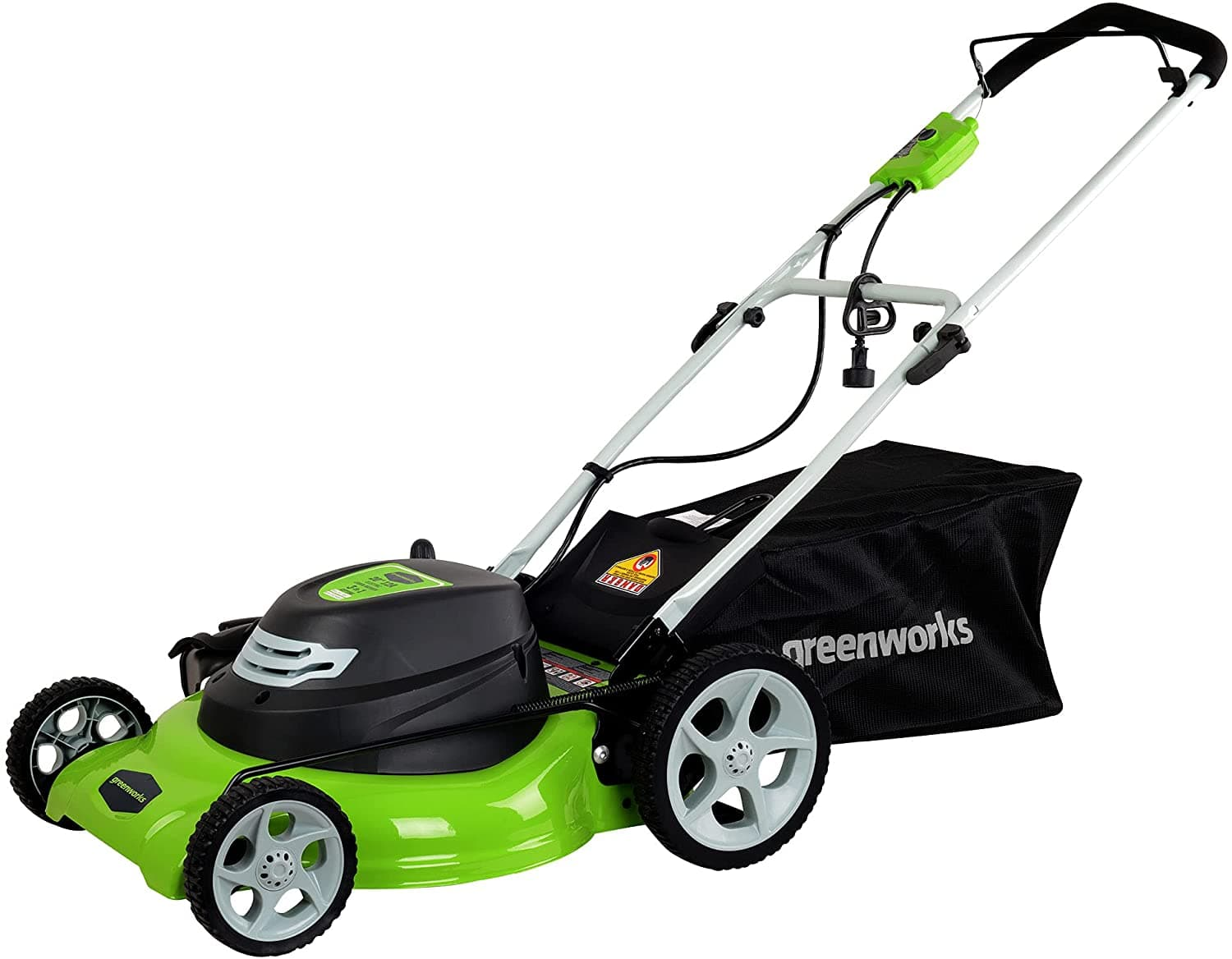 """20"""" Greenworks 12 Amp 3-in-1 Electric Corded Lawn Mower $95 + Free Shipping w/ Prime"""