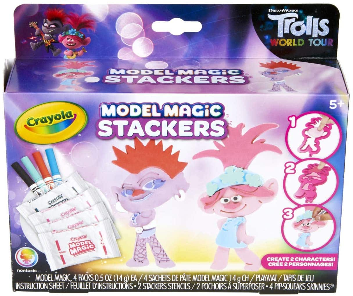 17-Piece Crayola Kid's Trolls World Tour Model Magic Stackers $5.77 + Free Shipping w/ Prime or on $25+