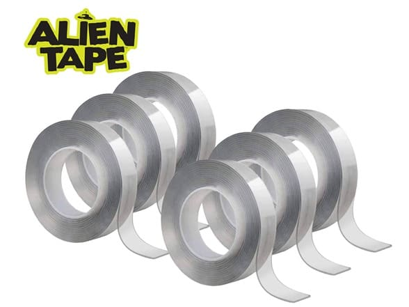 6-Pack 7ft Alien Tape Double Sided Reusable Tape $20 + 2.5% SD Cashback + Free Shipping w/ Prime