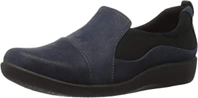 Clarks Women's CloudSteppers Sillian Paz Slip-on Loafer (Navy Synthetic Nubuck) $21.25 + Free Shipping w/ Prime or on $25+