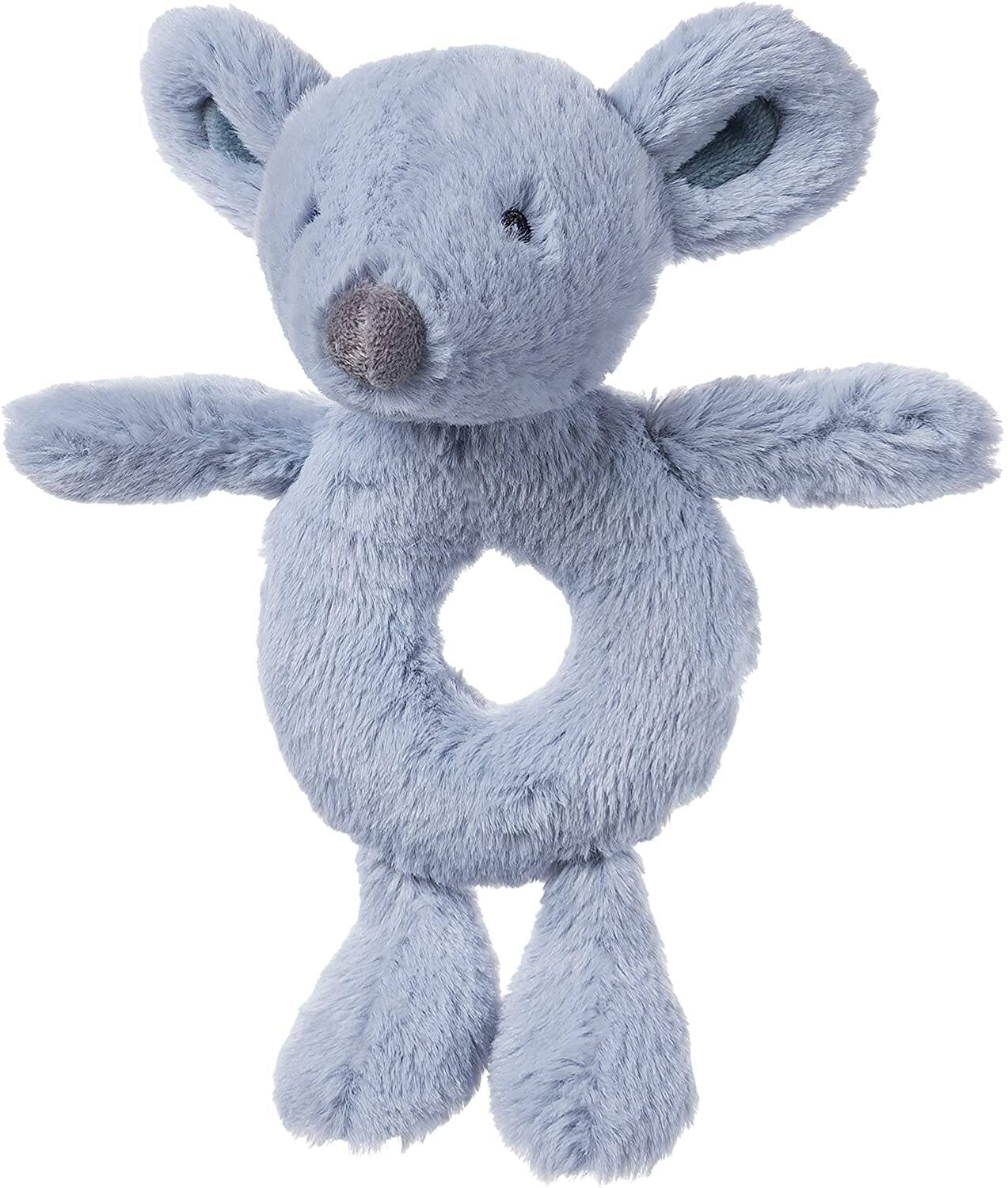 """7.5"""" Baby Gund Baby Toothpick Plush Spencer Mouse Rattle/ Stuffed Animal (Blue-Gray) $3.89 + Free Shipping w/ Prime or on $25+"""