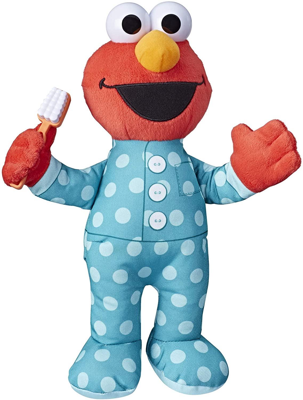 "12"" Sesame Street Singing Brushy Brush Elmo Plush Toy $14 + Free Shipping w/ Prime or on $25+"
