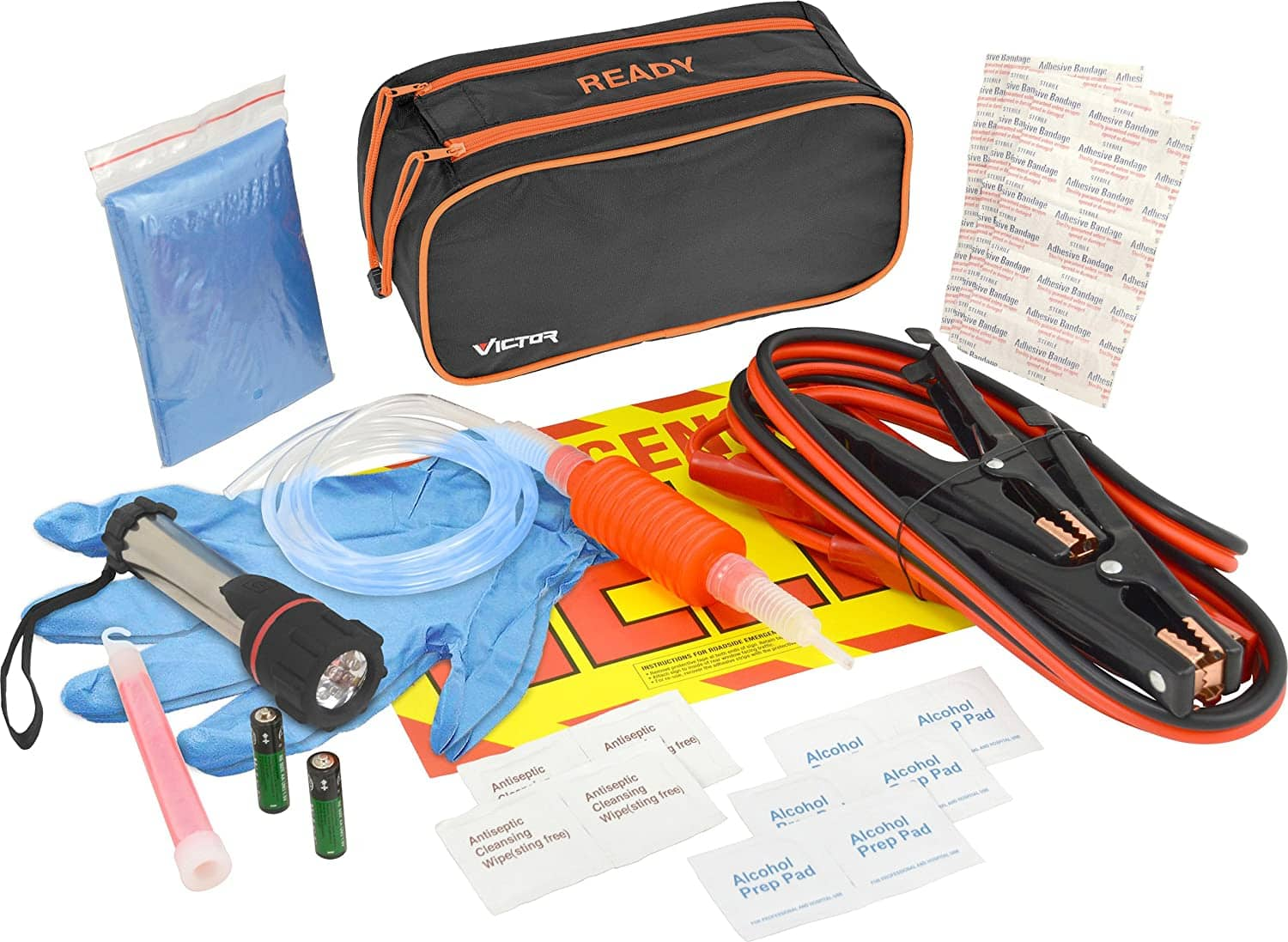 36-Piece Victor Ready Emergency Road Kit $11 + 2.5% SD Cashback + Free Shipping w/ Prime
