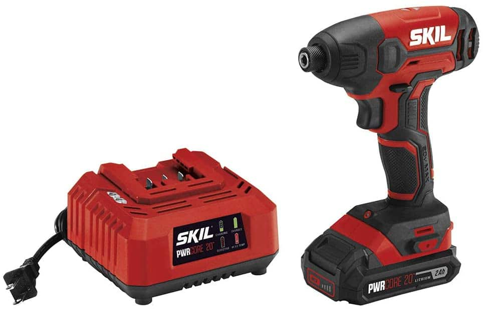 """SKIL PWRCore: 20V 1/4"""" Hex Cordless Impact Driver w/ Battery and Charger $45, 12V Compact 5-1/2"""" Circular Saw (Bare Tool) $40, More + Free Shipping w/ Prime"""