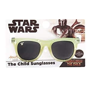 Sun-Staches Kid's Officially Licensed Star Wars The Mandalorian The Child Space Wayfarer Arkaid Sunglasses $6.86 + Free Shipping w/ Prime or on $25+