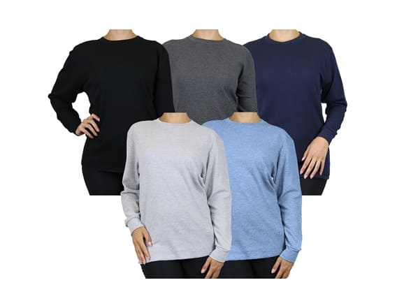 Galaxy By Harvic: 5-Pack Women's Oversized Loose Fit Thermals $33, 5-Pack Men's L/S Classic Thermal Shirts $33, More + Free Shippping w/ Prime