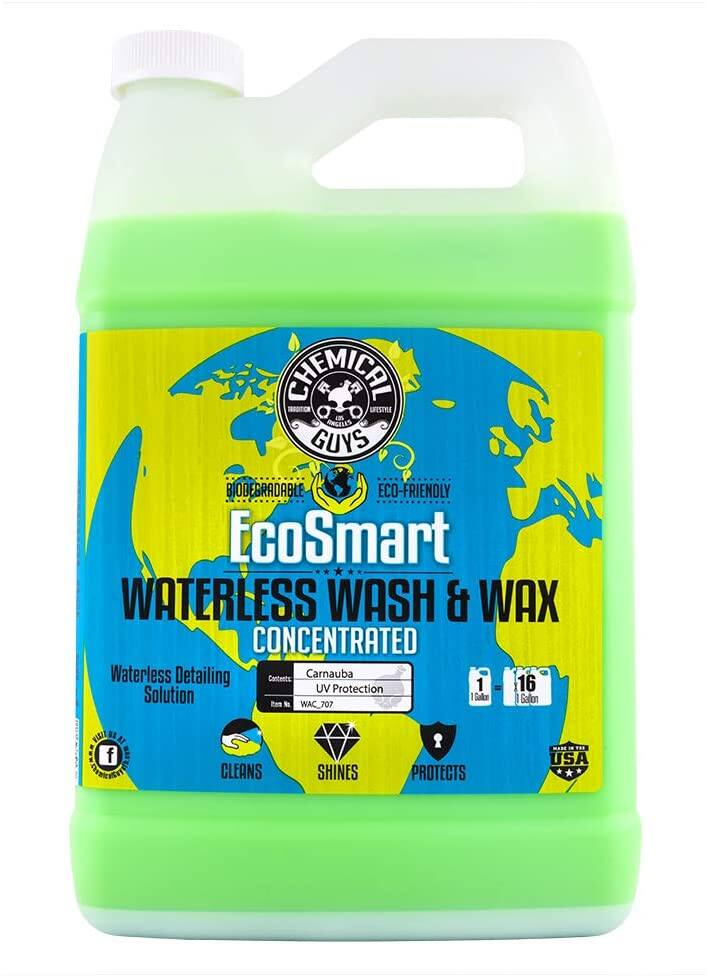 Chemical Guys: 1 Gal EcoSmart Hyper Concentrated Waterless Car Wash & Wax $50, 1 Gal Maxi-Suds II Foaming Car Wash (Grape) $15, More + Free Shipping w/ Prime