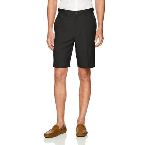 Haggar Men's Cool 18 Pro Straight Fit Stretch Flat Front Shorts $11 + Free Shipping w/Prime or on Orders over $25