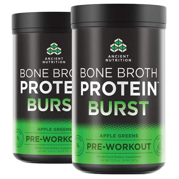 30-Serving Ancient Nutrition Bone Broth Protein Burst Pre-Workout (2 flavors) 2 for $20 ($10 each), More + Shipping $6