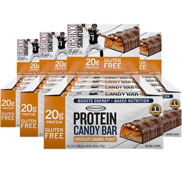 48-count Muscletech Gronk Protein Candy Bars (Caramel Peanut) $40 + $6 Shipping