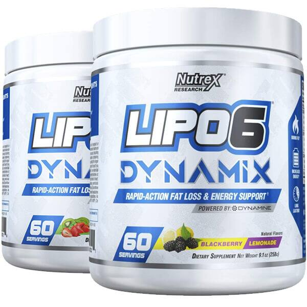 60-serving Nutrex Lipo6 Dynamix 2 for $30 ($15 each) + $6 Shipping