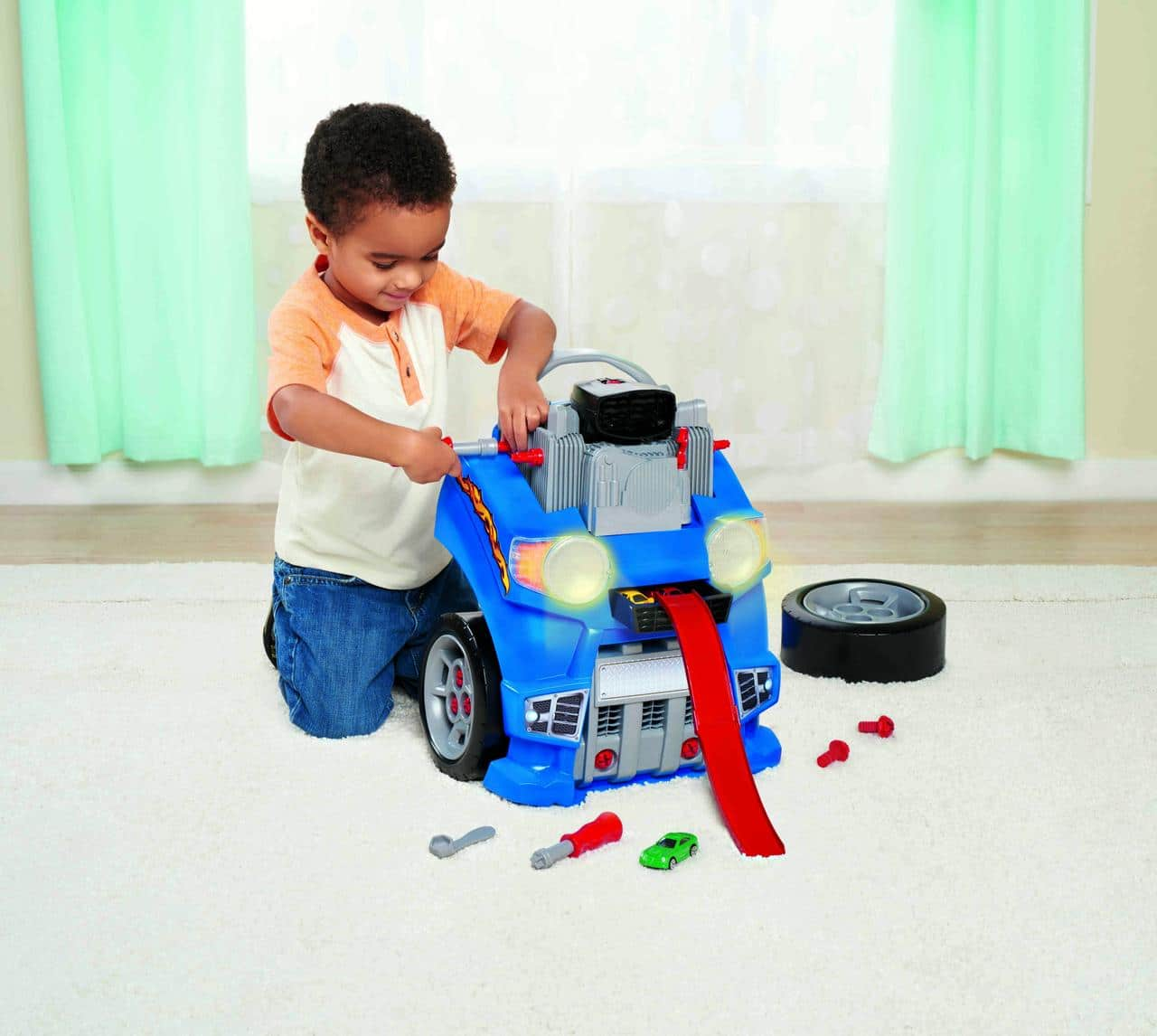 Walmart In Store Only: Kid Connection Car Engine and Race Track Set $4 YMMV