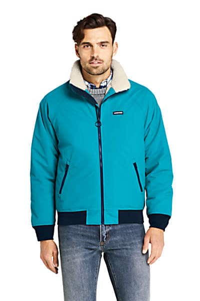 Lands' End Men's (Tall) Sherpa Lined Classic Squall Jacket (Algiers Blue) $40 + $8 Shipping or Free on $75+