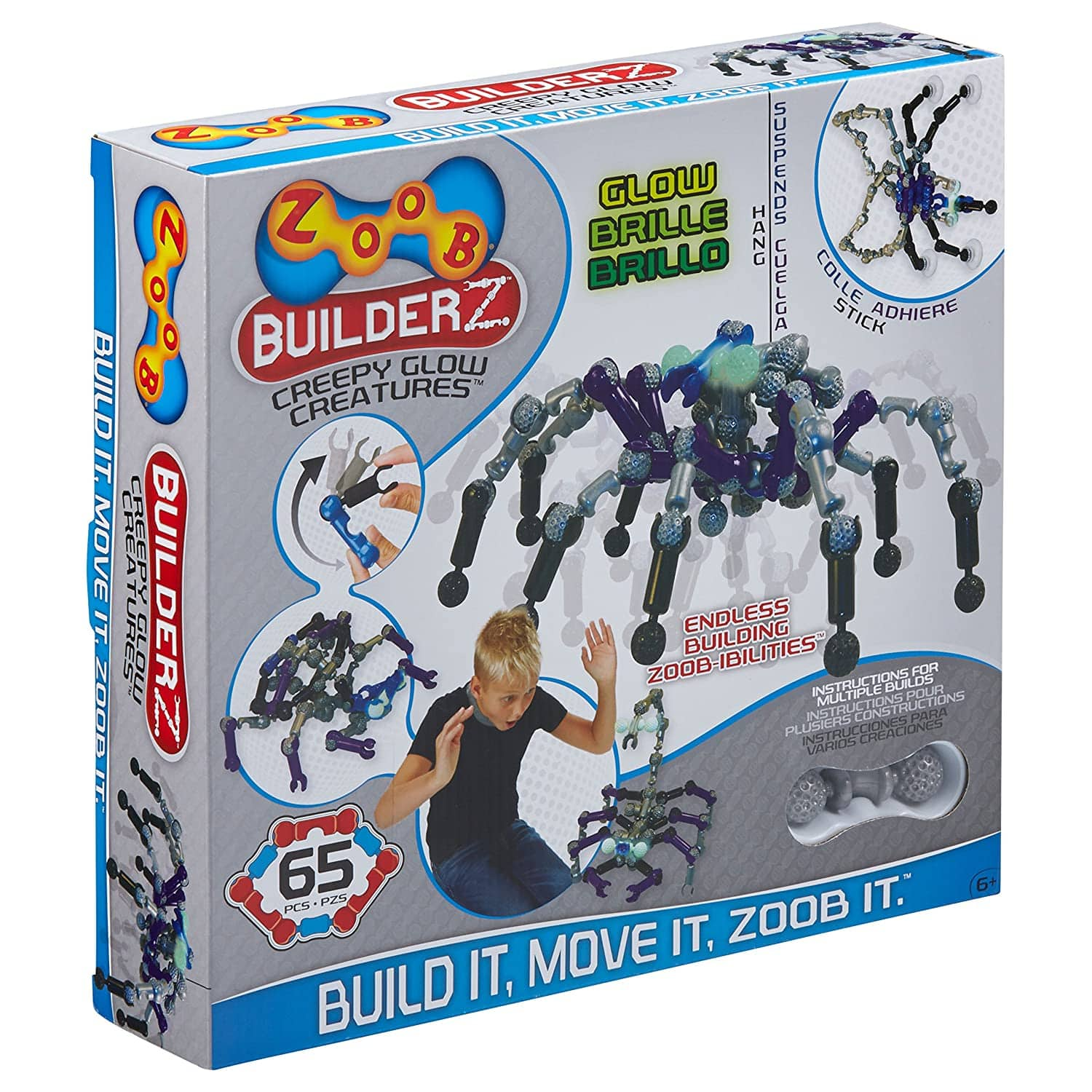 60-Piece Zoob Creepy Glow Creatures Moving Mind-Building Modeling System $8.45 + Free Shipping w/ Prime or on $25+