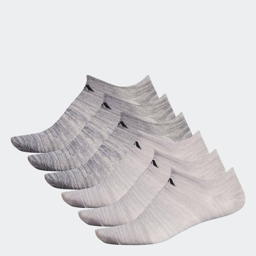 6-Pair adidas Men's Superlite No-Show Socks (beige) $10, Low-Cut (onix) $10 + Free Shipping