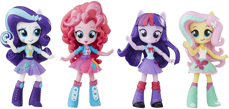 "4-Piece 4.5"" My Little Pony Equestria Girls Mini Set (Rarity, Fluttershy, Twilight Sparkle, Pinky Pie) $12.59 + Free Shipping w/ Prime"