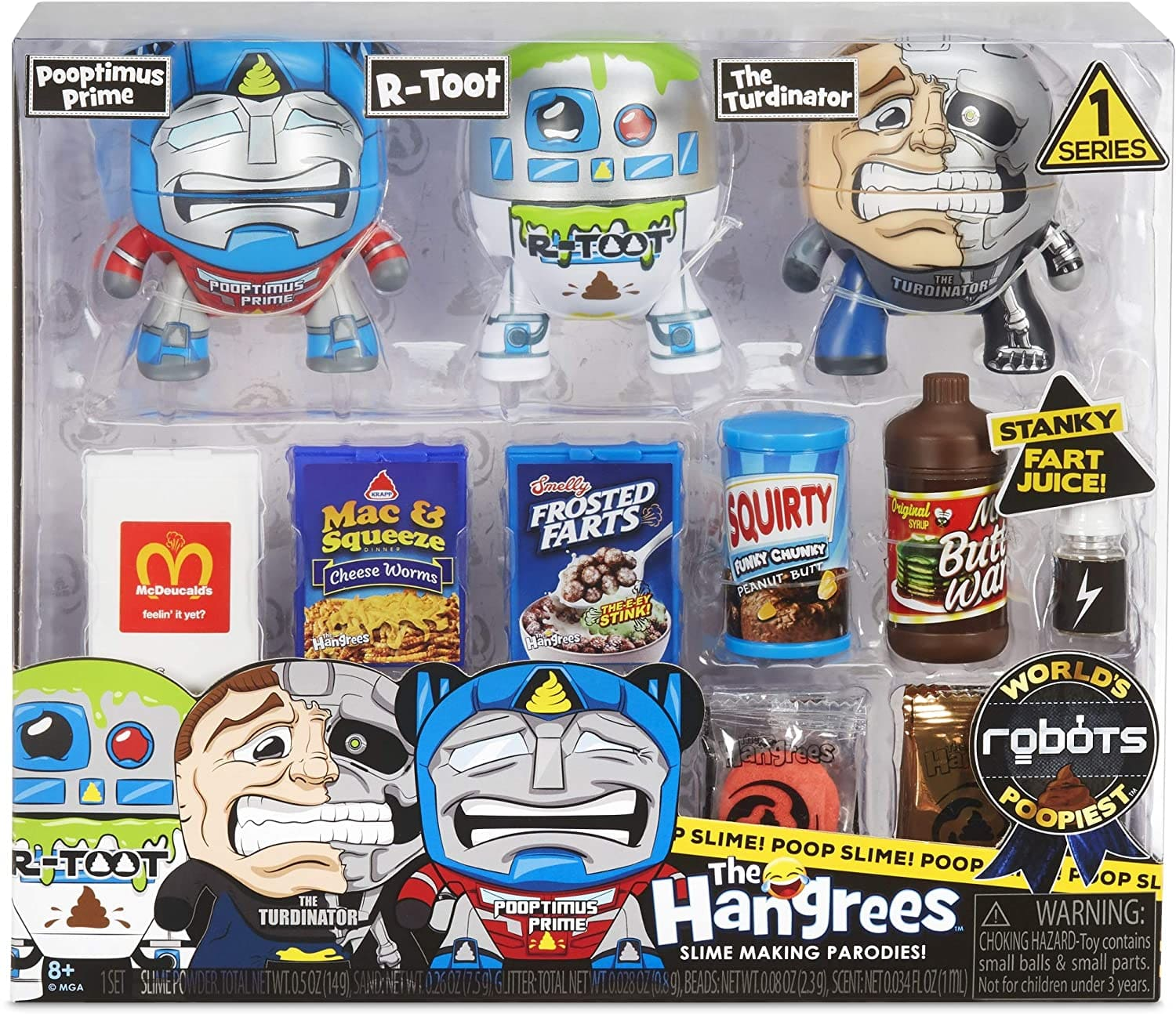 20-Piece MGA Entertainment The Hangrees World's Poopiest Parody Figures Set (Robots) $11.53 + Free Shipping w/ Prime or on $25+