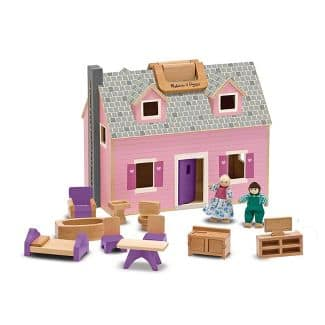 14-Piece Melissa & Doug Fold and Go Wooden Dollhouse $32.79 + Free Shipping