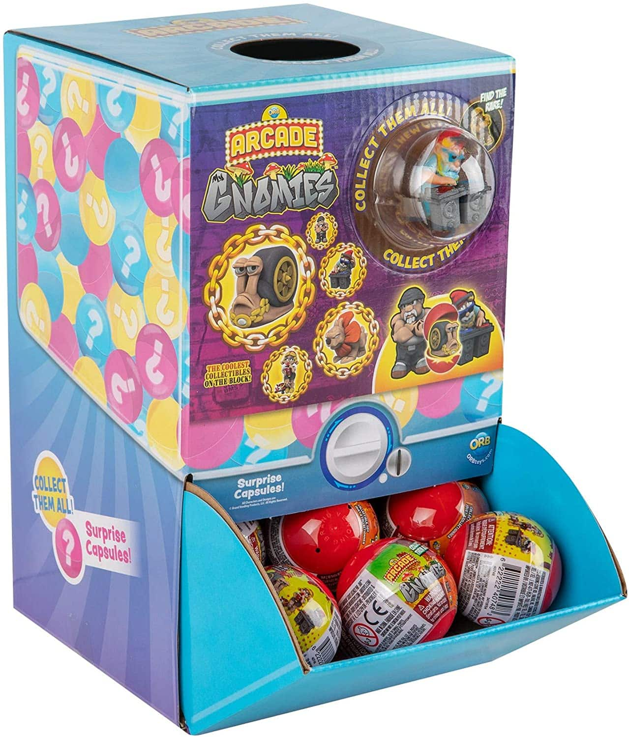 48-Capsule Display Orb Arcade Gnomies Capsules  $26.39 + Free Shipping w/ Prime or on $25+