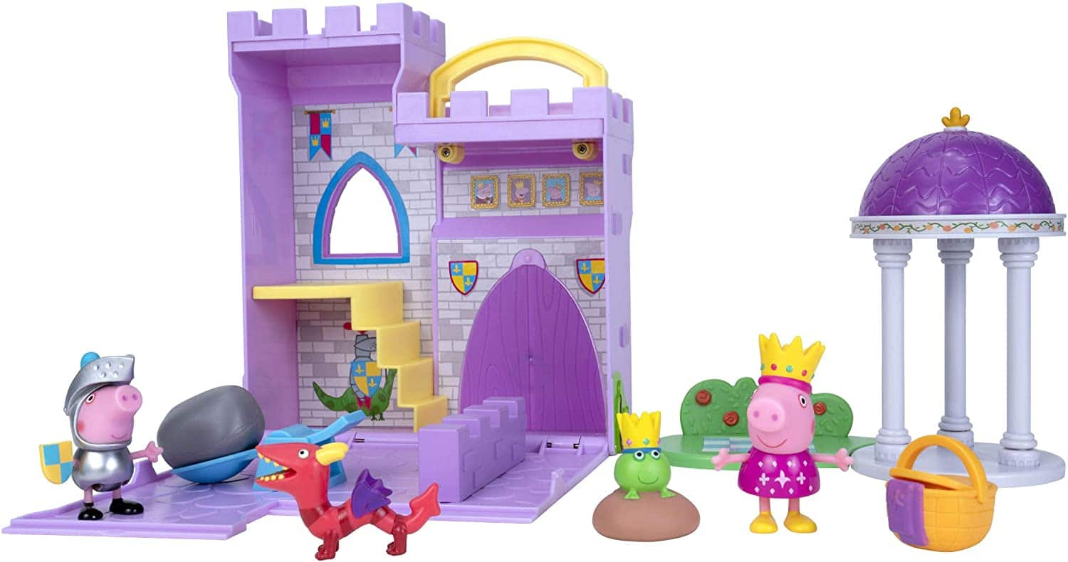 """8"""" Expandable Peppa Princess Fort Adventure Playset $14 + Free Shipping w/ Prime or on $25+"""